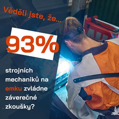 93% strojních mechaniků na emku zvládne závěrečné zkoušky