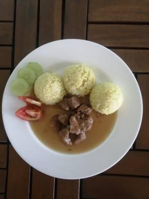 Vepřové ala bažant, Kari rýže