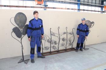 Kovářské výrobky našich žáků pro Priessnitzovy léčebné lázně