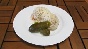 Vepřové rizoto se zeleninou a sýrem